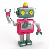 custom make small plastic robot toys,OEM design plastic robot models
