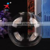 Aluminum Wax Fluted Body ball Glass candel holder