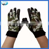 leather Camo fashion sport outdoor gloves