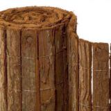 Single face tree bark fence for garden decoration
