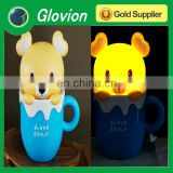 Hot sale USB rechargeable Cup Cartoon Table Lamp usb charger table lamp funky table lamps