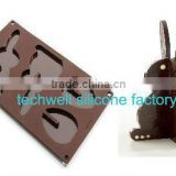 novel design Easter Day promotion gifts 3D heart shaped silicone chocolate mold