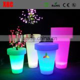 2019 illuminated round shape tall plastic flower vases plastic lighting flower vases