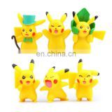 hot selling 6 pcs pokemon go plus action figures kids toys