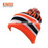 Acrylic Custom Knitted Pom Hat Wholesale jacquard Pom