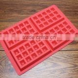 Safety 4-Cavity Waffles Cake Chocolate Pan Silicone Mold Baking Mould Cooking Tools Kitchen Accessories Supplies