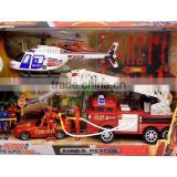 cheap funny plasitic fire fighting set fire rescue toy TF15050044