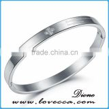 Wholesale New Style Woman Charm Bracelet Jewelry Silver Plated 316L Stainless Steel Gift Simple Design Bangles
