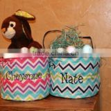 New Personalized Stripe Monogrammed Easter Bucket