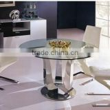 1+4 Glass top dining table and chair center table set for 4 seaters