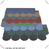 Fish scale 5 tabs Colorful Fiberglass  asphalt shingle roof tile
