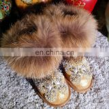 Aidocrystal 2016 Crystal Diamond Butterfly Charming Rhinestone Winter Snow Shoes