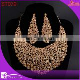 african fashion costume jewelry crystal jewelry sets ST079