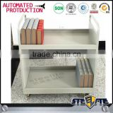 Single sided 2-tier book trolley/library book trolley