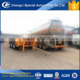 CLW container transport trailer 3 axle tri axle 50 tons 60 tons 20 feet 40 feet skeleton or flat plate container semi trailer