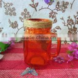 Various Color Fruit Canning Glass Mason Jars with Handle