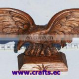 Wooden eagle. hand carved statue sculpture animal bird, handmade in Ecuador