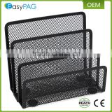 Made in china 3 tier black wire mesh office school desk letter holder