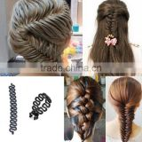 Wholesale OEM French Weave Hair Braiding Tool Roller Braider With Magic hair Twist Styling Bun Maker