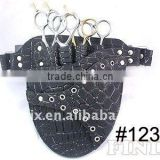 Stylish 4 pairs of scissors Black Leather Scissor Holster