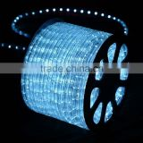 sichuan festalight round water proof 3/8 inch plastic white flat led rope light flexible led strip light 220v with ce rohs ul