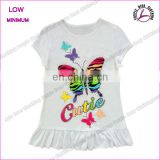 New Arrival 2016 Cotton Baby Girls T-shirts cute butterfly print kids shirts