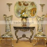 Antique home furniture console table and chair