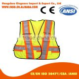 YELLOW high visibility glow in dark Separable Detachable Shoulder waist Vest
