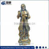 Religious act church decoration antique bronze catholic jesus statue