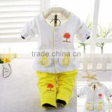 Toddlers garments 0-24 months soft yellow toddler pajamas
