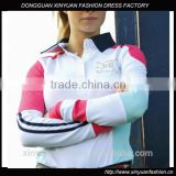 100% cotton Customized long sleeve polo shirt for lady horse riding shirt
