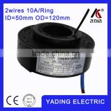 SRH 50120- 2p pancake slip ring ID50mm. OD120mm. 2Wires, 10A 2 wires