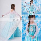 Christmas frozen dress collection large stock high quality cheap frozen elsa dress party supplies FC007