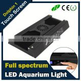 Sunrise and sunset wifi & intelligen touch LED Aquarium Hood Lighting Fish Tank Light full spectrum for Freshwater and Saltwater