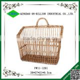 Wicker material hand woven small hanging basket