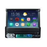 Car multimedia player with 1 DIN 7 inch Android GPS, Wifi, BT, Mirror link with motorized flip down panel