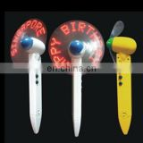 plastic flash fan ballpoint pen with led