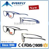 8010 Quality rectangle with carbon fiber temple full frim optical frame myopia spectacles prescription eyeglasses