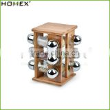 Hot Sale Best Quality Bamboo Wooden Spice Rack With Jar For Restaurant/Homex_Factory