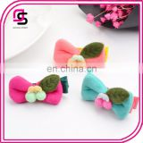 fashion baby girl candy color hair bow clip hairpin