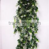 90cm tall new decoration artificial flanged plastic black green hanging bushings square EDC1602 22J09