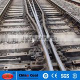 Good quality Horizontal Type Railroad Switch with Rails Ties and Gravel