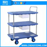 Easyzone 150kgs heavy duty industrial pull cart dolly cart