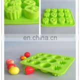 2014New food grade solt silicone ice cube tray