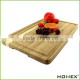 100% Anti-Bacterial, Perfect For Meat & Veggie Prep, Serving Bread and Cocktail Bar Suquare Shape Bamboo Board