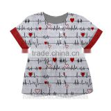 Heart to heart of the pattern is very beautiful gives a quiet feeling the top 50 children's clothing wholesale
