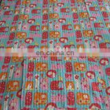 printed cotton bed cover for kids