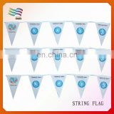 Durable triangle fabric bunting flags for swimming club