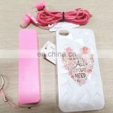 Phone case with power bank set for 2014 with love design