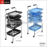 Deluxe Locking Salon Trolley.Beauty Trolley /Cheap Colorful Beauty Salon Trolleys